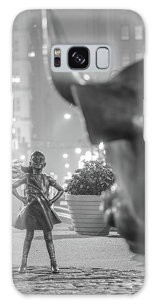 Charging Bull And Fearless Girl Nyc  Galaxy Case
