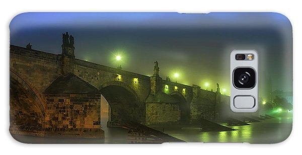 Charles Bridge Night In Prague, Czech Republic Galaxy Case
