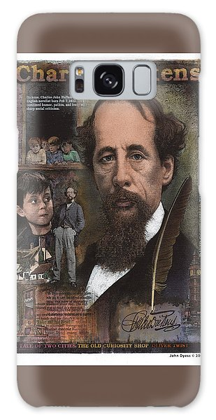 Galaxy Case featuring the mixed media Charles Dickens by John Dyess