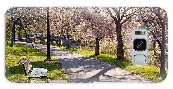 Charles River Cherry Trees Galaxy Case