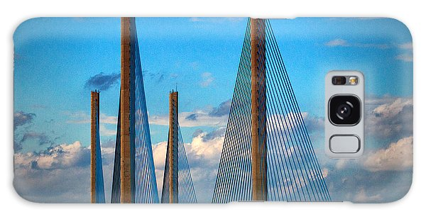 Charles W Cullen Bridge South Approach Galaxy Case by Bill Swartwout
