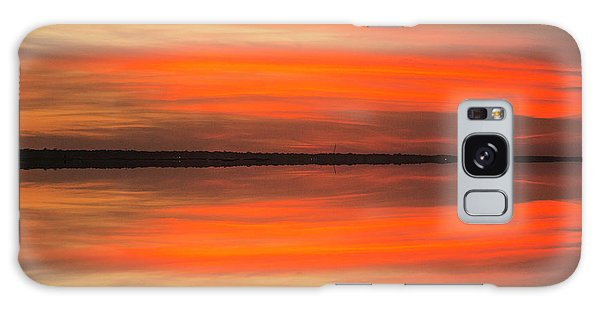Galaxy Case featuring the photograph Charleston Harbor Sunset 05 by Jim Dollar