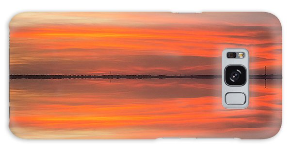 Galaxy Case featuring the photograph Charleston Harbor Sunset 2017 11 by Jim Dollar