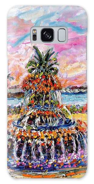 Charleston Pineapple Fountain Sc Galaxy Case by Ginette Callaway