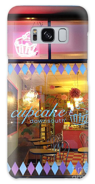 Street Cafe Galaxy Case - Charleston South Carolina Cupcake Downsouth Cafe - Charleston Cupcake Shop - Charleston Street Art by Kathy Fornal