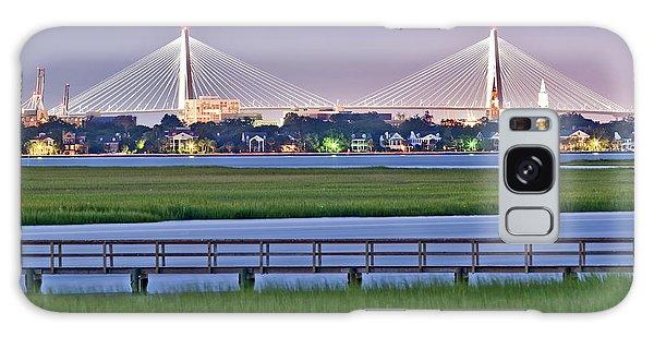 Charleston South Carolina Skyline Galaxy Case