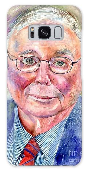 University Of Michigan Galaxy S8 Case - Charlie Munger Painting by Suzann's Art