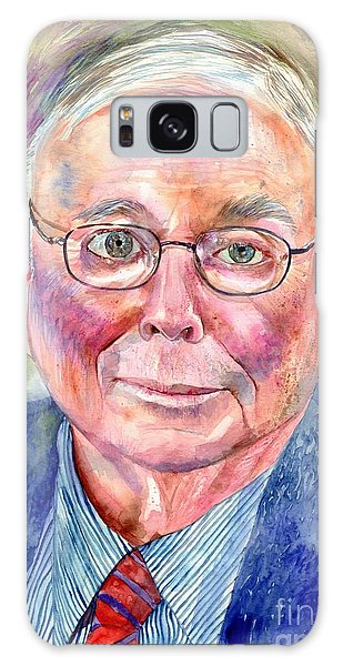 Gamble Galaxy Case - Charlie Munger Painting by Suzann Sines