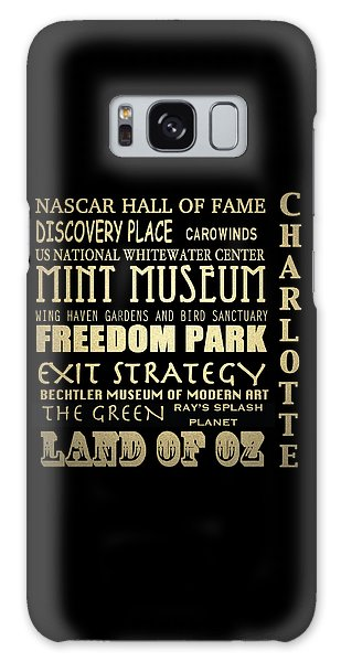 Charlotte North Carolina Famous Landmarks Galaxy Case