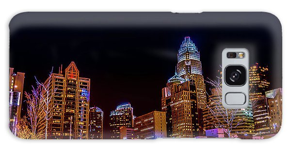 Charlotte Skyline At Night Galaxy Case