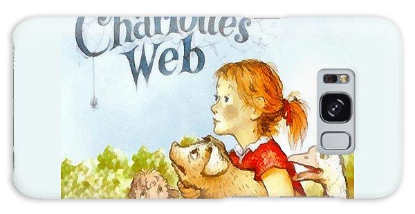 Charlottes Web Galaxy Case by Elizabeth Coats