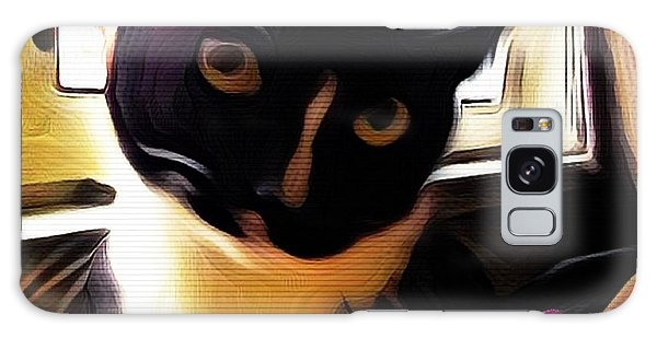 Charmed By My Beloved Cat Galaxy Case