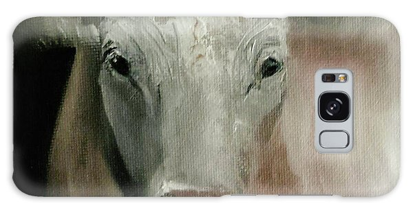 Charolais Cow Painting Galaxy Case