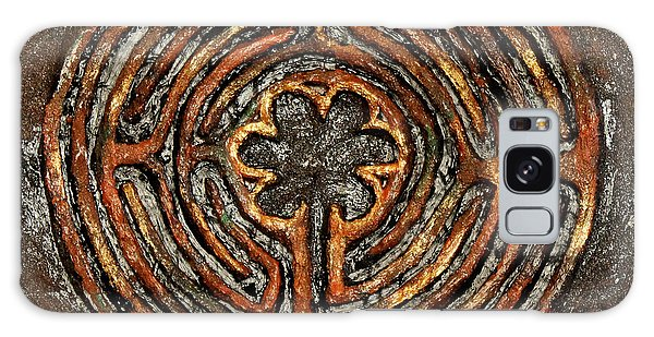 Chartres Style Labyrinth Earth Tones Galaxy Case