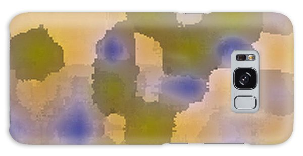 Chartreuse Two  By Rjfxx. Original Abstract Art Painting. Galaxy Case