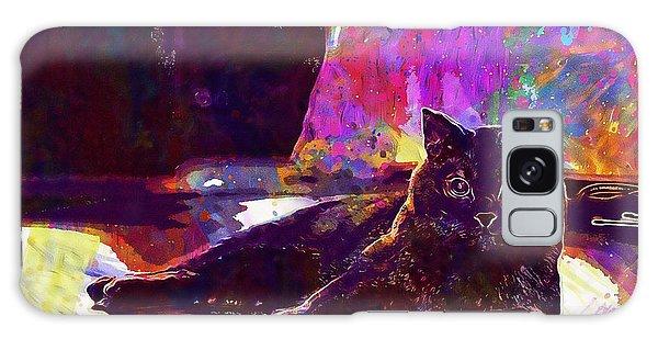 Galaxy Case featuring the digital art Chartreux Cat Animals Pet Mieze  by PixBreak Art