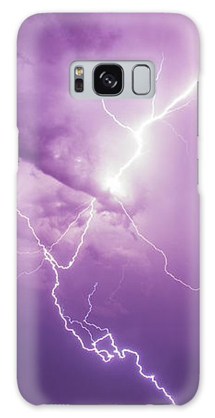 Chasing Nebraska Lightning 018 Galaxy Case