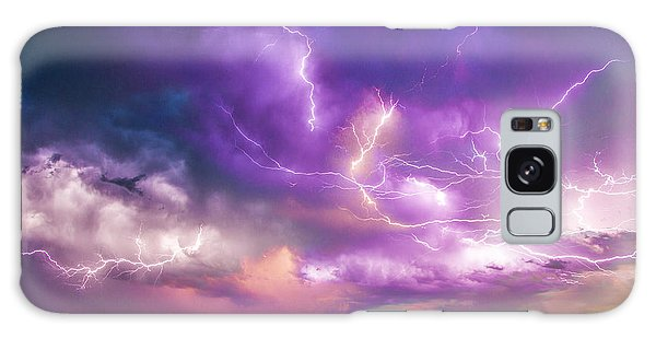 Chasing Nebraska Lightning 056 Galaxy Case