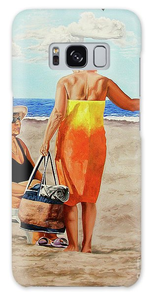 Chat On The Beach - Chat En La Playa Galaxy Case