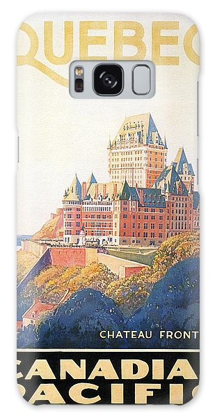 Chateau Frontenac Luxury Hotel In Quebec, Canada - Vintage Travel Advertising Poster Galaxy Case