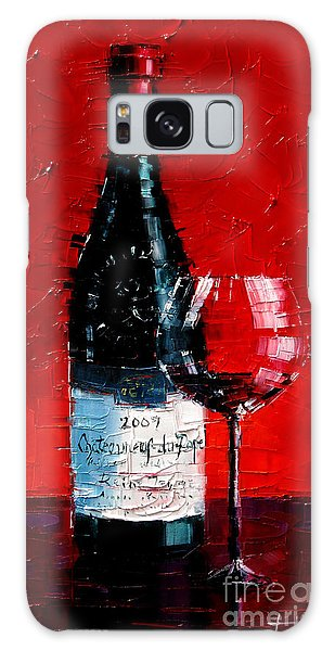 Still Life With Wine Bottle And Glass I Galaxy Case