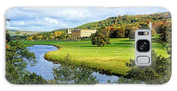 Chatsworth House View Galaxy Case