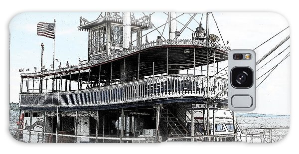 Chautauqua Belle Steamboat With Ink Sketch Effect Galaxy Case