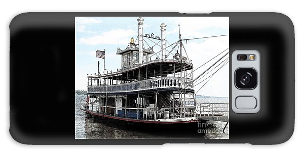 Galaxy Case featuring the photograph Chautauqua Belle Steamboat With Ink Sketch Effect by Rose Santuci-Sofranko