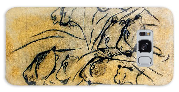 chauvet cave lions Clear Galaxy Case