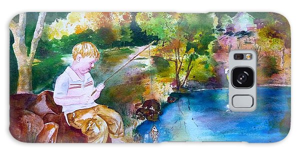 Chayton's Lake In The Woods Galaxy Case by Sharon Mick