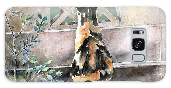 Calico Cat Galaxy Case - Checking Out The Neighbors Backyard by Arline Wagner
