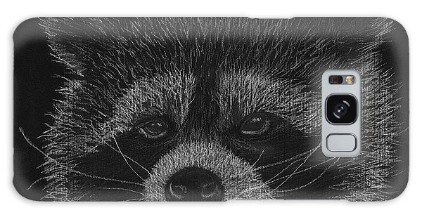 Cheeky Little Guy - Racoon Pastel Drawing Galaxy Case