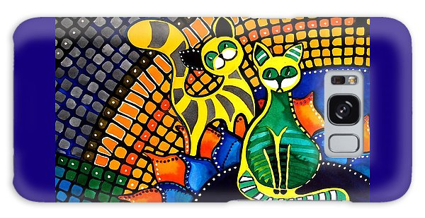 Cheer Up My Friend - Cat Art By Dora Hathazi Mendes Galaxy Case by Dora Hathazi Mendes