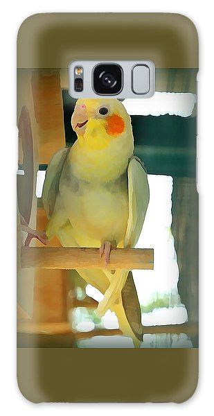 Galaxy Case - Cheerful Cockatiel by Raven Hannah