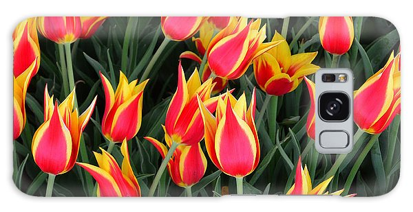 Cheerful Spring Tulips Galaxy Case