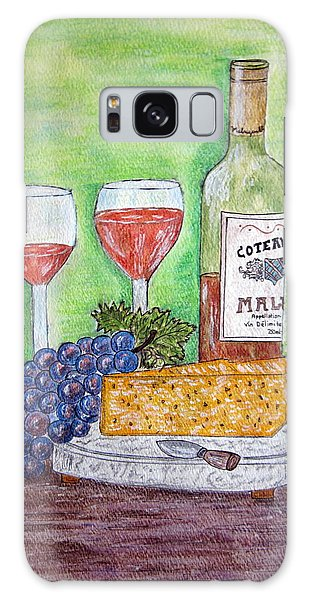 Cheese Wine And Grapes Galaxy Case