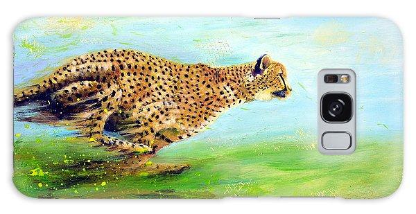 Cheetah At Speed Galaxy Case