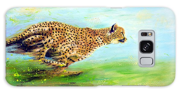 Cheetah At Speed Galaxy Case