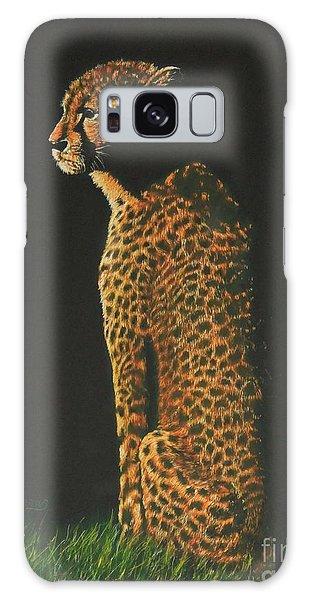 Cheetah At Sunset Galaxy Case
