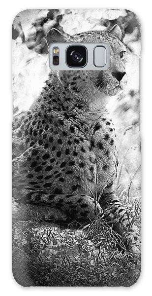 Cheetah B W, Guepard Black And White Galaxy Case