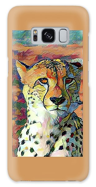 Cheetah Face Galaxy Case