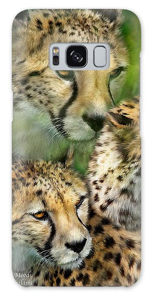 Cheetah Moods Galaxy Case by Carol Cavalaris
