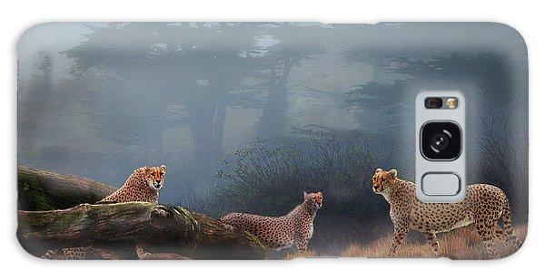 Cheetahs In The Mist Galaxy Case