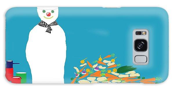 Chef Snowman Galaxy Case by Barbara Moignard