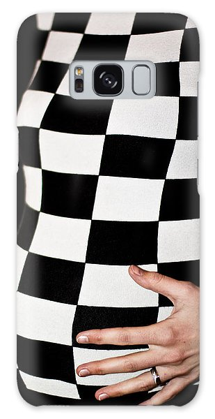 Chequered Pregnancy Galaxy Case