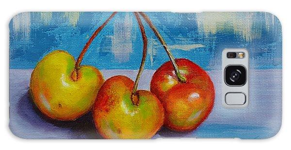 Cherries Trio Galaxy Case by Janet Garcia
