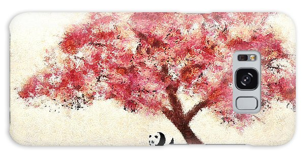 Cherry Blossom And Panda Galaxy Case