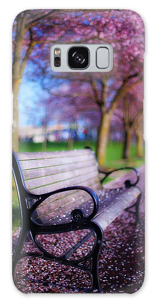 Breathe Galaxy Case - Cherry Blossom Bench by Darren White