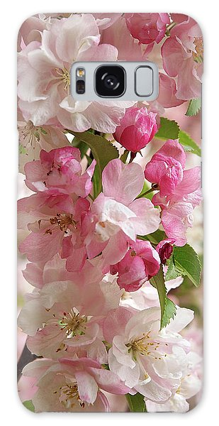 Cherry Blossom Closeup Vertical Galaxy Case by Gill Billington