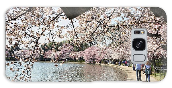 Cherry Blossom Stroll Around The Tidal Basin Galaxy Case